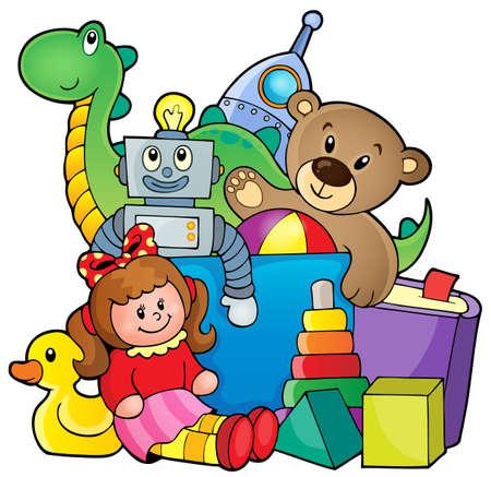 Montón de juguetes Ilustración de vector