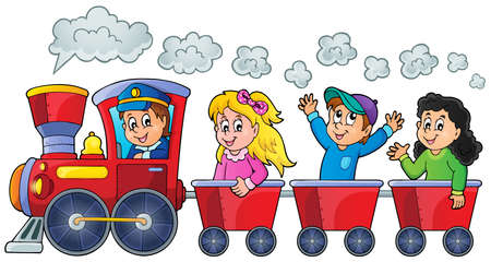 Train with happy kids