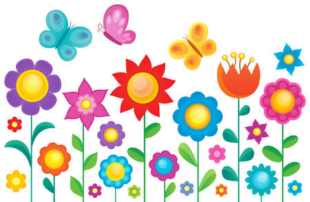 Flower topic image 1 - eps10 vector illustration.