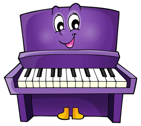 upright piano: Piano theme image 1 - eps10 vector illustration.