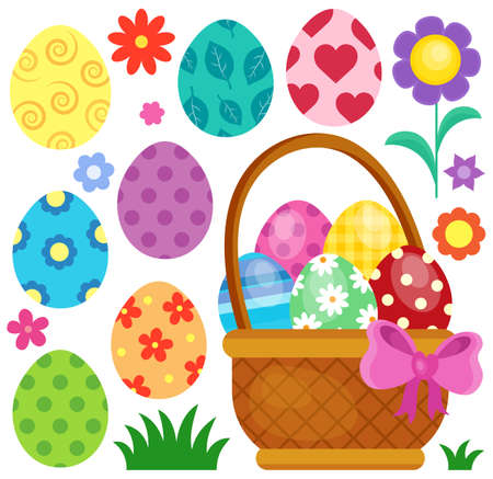 Easter eggs thematic image 2 - eps10 vector illustration. Vetores