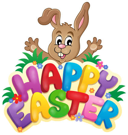 easter sign: Happy Easter sign theme image 6 - eps10 vector illustration.