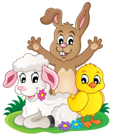 Spring animals theme image 1 - eps10 vector illustration. Illustration