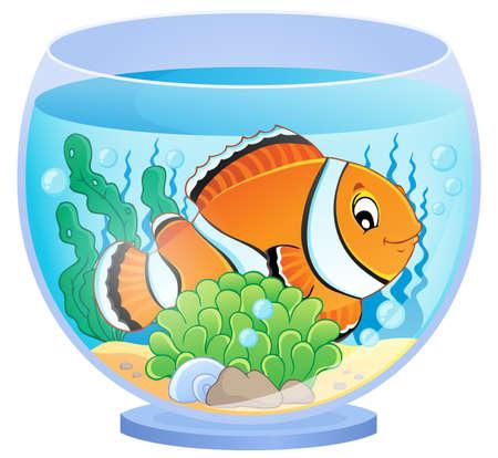 clownfish: Aquarium theme image 1 - eps10 vector illustration. Illustration