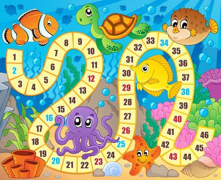 Image de jeu de société avec sous thème 1 - eps10 illustration vectorielle. Banque d'images - 37770806