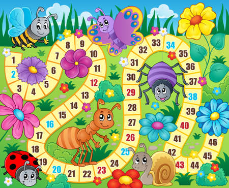 Board game theme image 9 - eps10 vector illustration. Zdjęcie Seryjne - 37770810