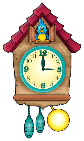 cuckoo clock: Clock theme image 1 - eps10 vector illustration.