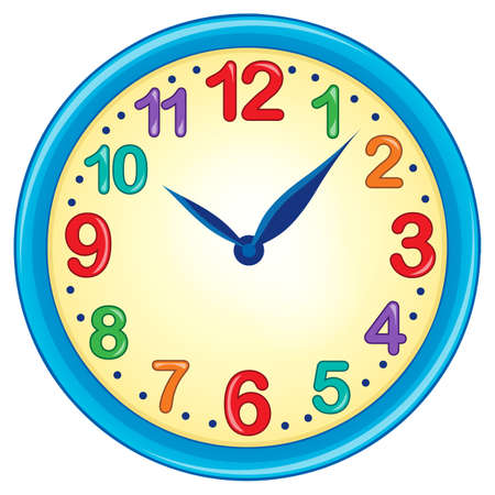 numbers clipart: Clock theme image 3 - eps10 vector illustration. Illustration