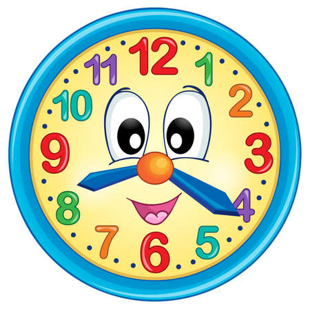 numbers clipart: Clock theme image 5 - eps10 vector illustration.