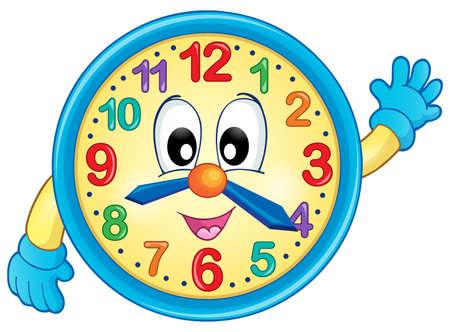 Clock theme image 6 - eps10 vector illustration. Ilustracja