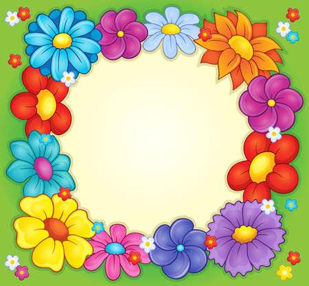 Frame with flower theme 2 - eps10 vector illustration. Illustration