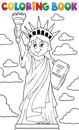 Coloring book Statue of Liberty theme