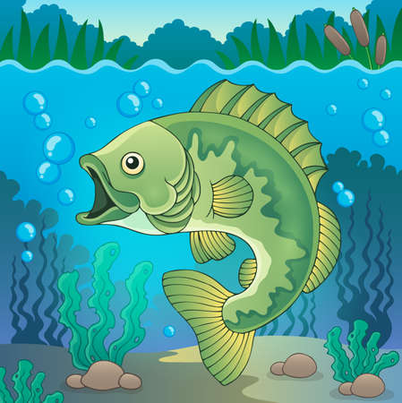 the perch: Freshwater fish topic image Illustration