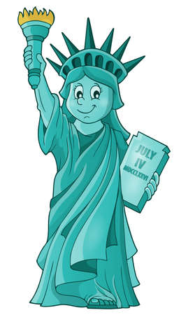 declaration of independence: Statue of Liberty theme image  Illustration