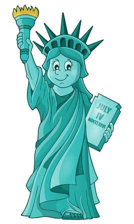 statue of liberty: Statue of Liberty theme image  Illustration