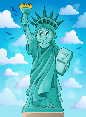 declaration of independence: Statue of Liberty theme image