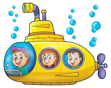 Submarine theme image  Иллюстрация