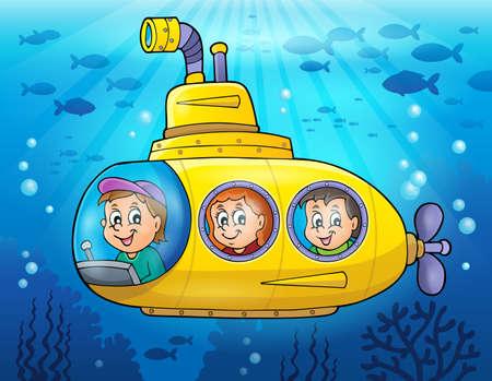 Submarine theme image  Ilustração