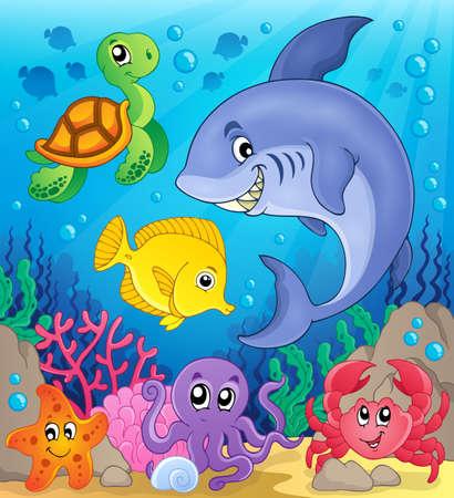fauna: Tema de la fauna subacu�tica del oc�ano