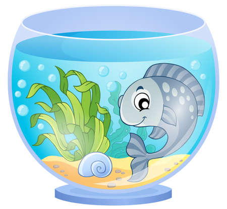 5,022 Fish Bowl Stock Vector Illustration And Royalty Free Fish ...