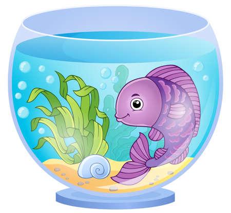 floating on water: Aquarium theme image 6 - eps10 vector illustration.