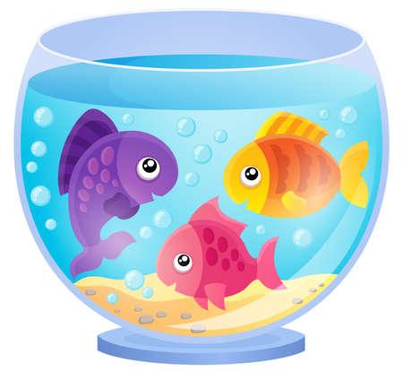 Aquarium theme image 7 - eps10 vector illustration. Illustration