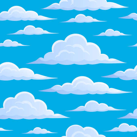 Clouds on blue sky seamless background 1 - eps10 vector illustration. Illustration
