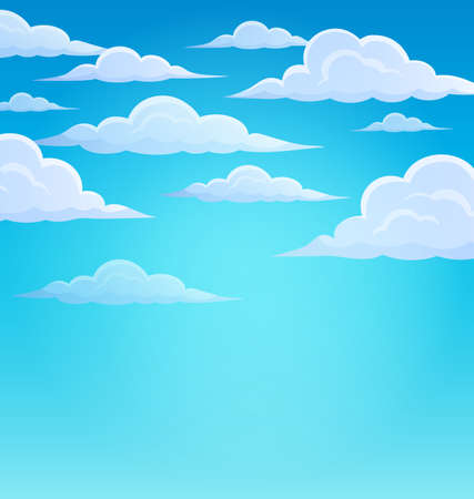cloudy day: Clouds on sky theme 1 - eps10 vector illustration. Illustration