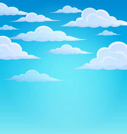 nebulosidade: Nuvens no céu tema 1 - ilustração do vetor eps10. Ilustração