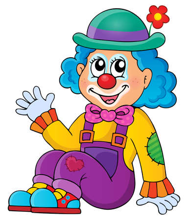 Sitting clown theme image 1 - eps10 vector illustration.