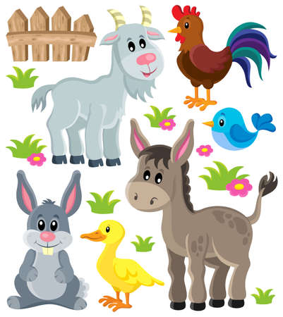 bird clipart: Farm animals set 3 - eps10 vector illustration.