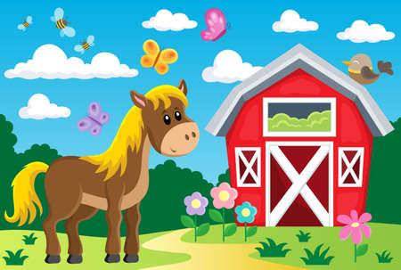 farmyard: Farm topic image 3 - eps10 vector illustration.