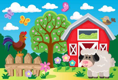 roaster: Farm topic image 8 - eps10 vector illustration.