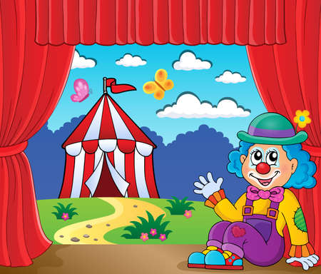 Sitting clown theme image 6 - eps10 vector illustration. Vector