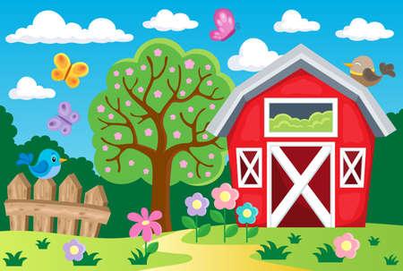 Farm topic background 1 - eps10 vector illustration.