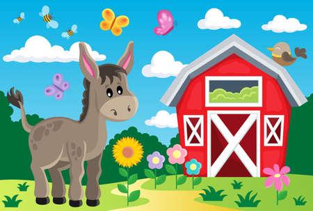 farmyard: Farm topic image 5 - eps10 vector illustration.