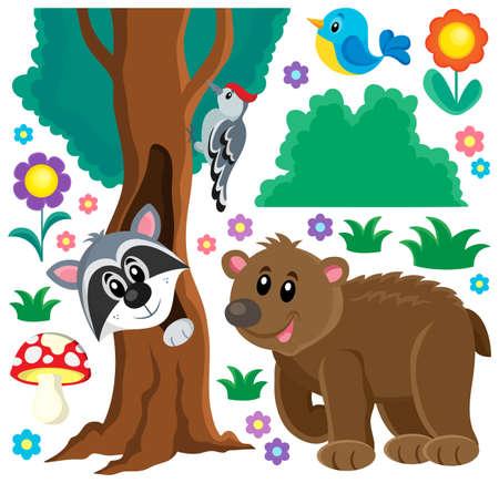 animales del bosque: Los animales del bosque tema set 3 - ilustraci�n vectorial eps10. Vectores