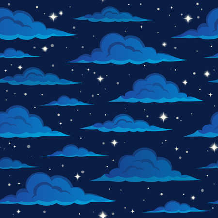 cloudy night sky: Night sky seamless background 2 - eps10 vector illustration. Illustration