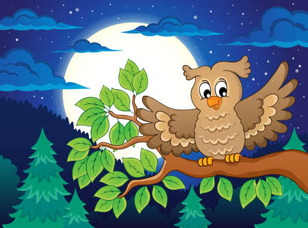 Owl topic image 3 - eps10 vector illustration. Vector