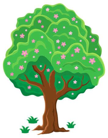 arboles frondosos: Primavera tema imagen Árbol 2 - ilustración vectorial eps10. Vectores
