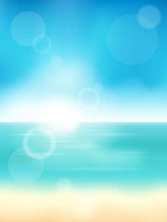 water theme: Summer theme abstract background 3 -  vector illustration. Illustration