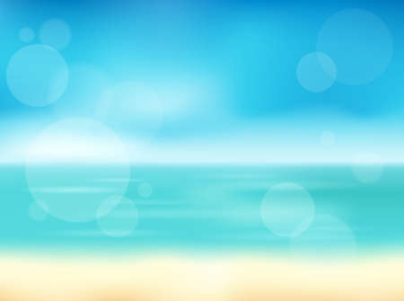 Summer theme abstract background 1 -  vector illustration.
