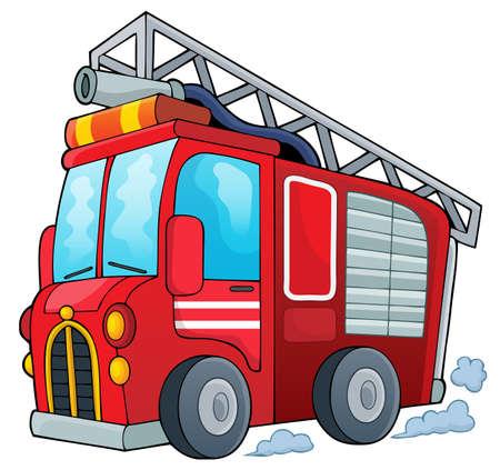 Fire truck theme image 1 -  vector illustration.