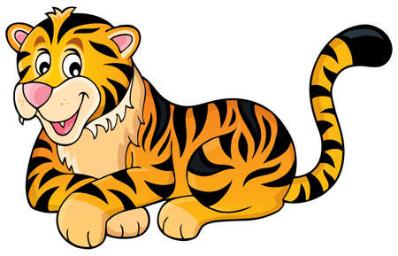Tiger theme image 1 -  vector illustration.