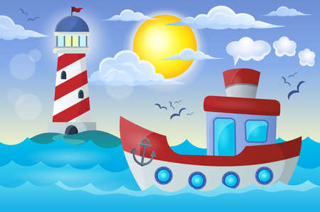theme: Boat theme image  Illustration