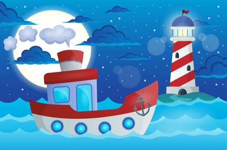 Boat theme image  Illustration