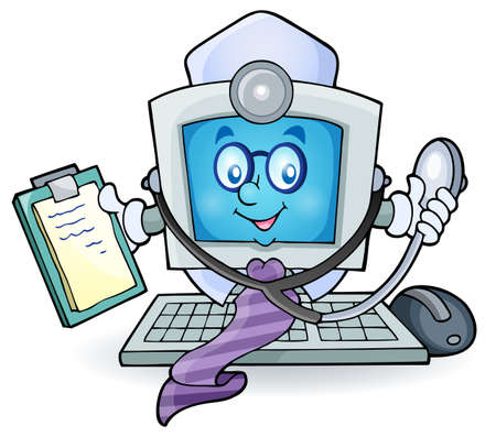 looking at computer screen: Computer doctor theme image