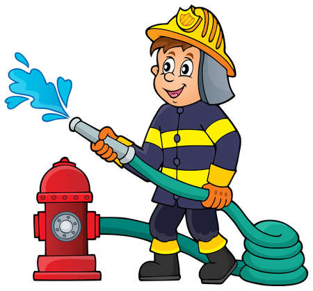 Firefighter theme image 版權商用圖片 - 40859596
