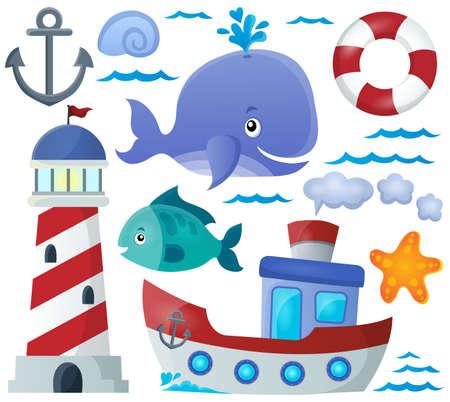 olas de mar: Tema colección Océano