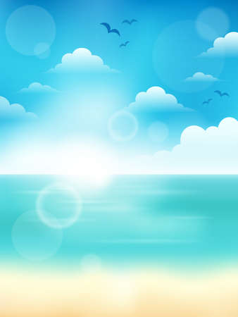 Summer theme abstract background   イラスト・ベクター素材